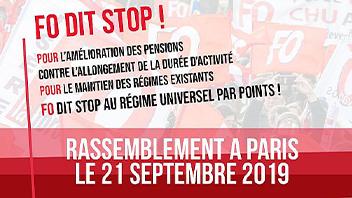 Affiche sur le rassemblement 21 septembre contre la réforme des retraites